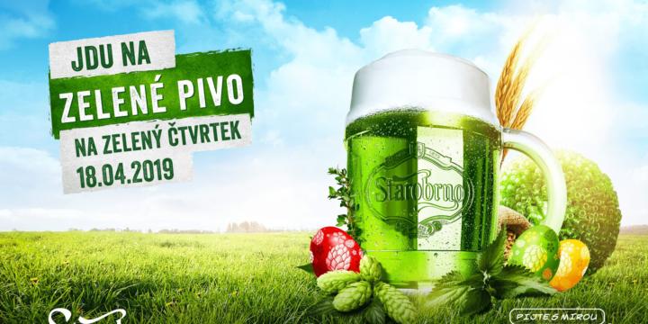 Zelené pivo na Zelený čtvrtek i celé Velikonoce!